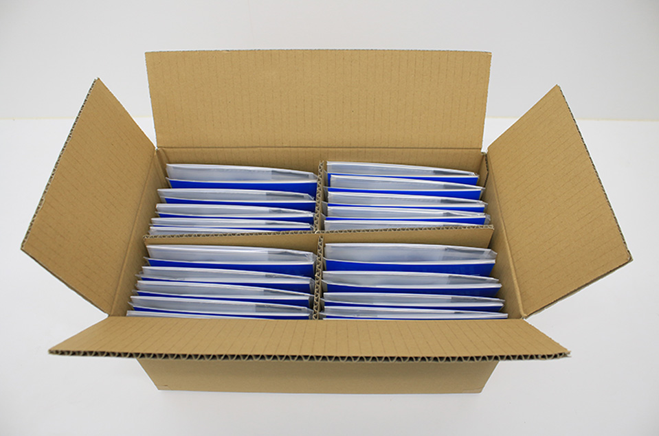 Carton box with special separations for booklets